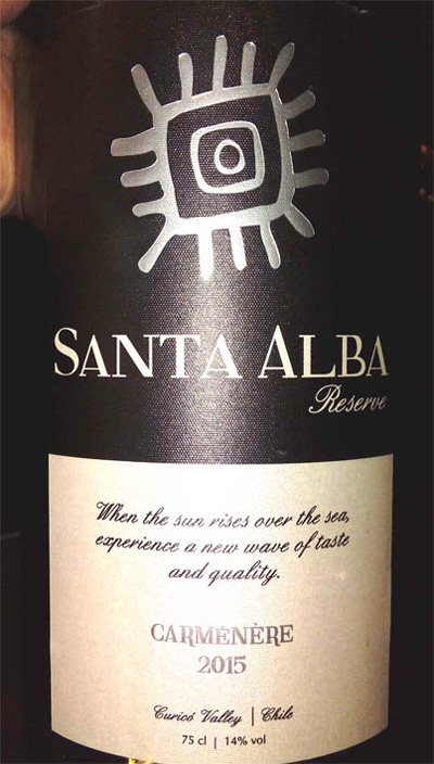 Отзыв о вине Santa Alba carmenere reserve 2015