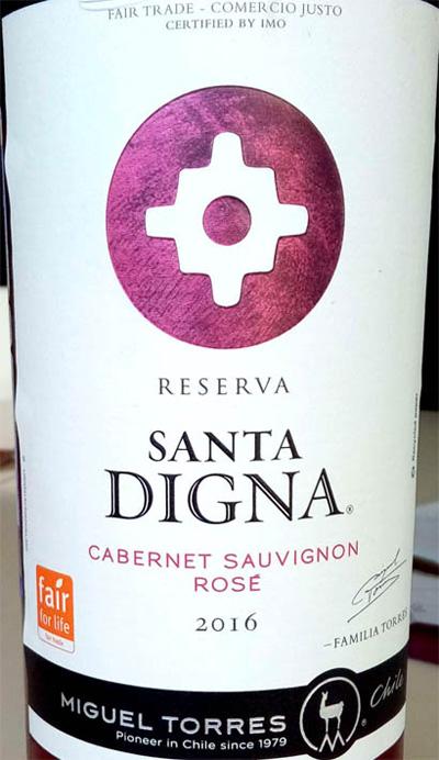 Отзыв о вине Santa Digna cabernet sauvignon rose reserva 2016
