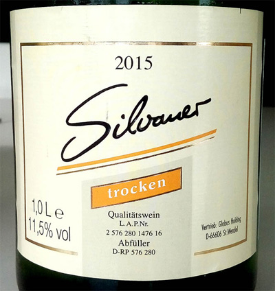Отзыв о вине Silvaner trocken Globus holding 2015