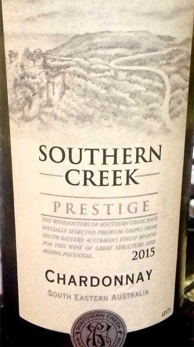 Отзыв о вине Southern Creek Chardonnay prestige 2015