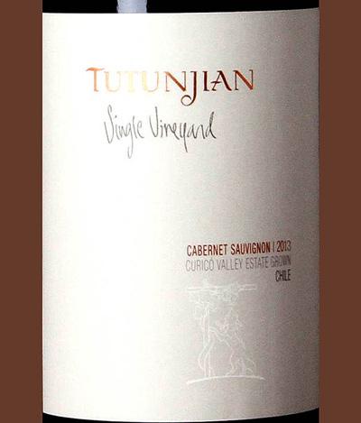 Отзыв о вине Tutunjian Single Viineyard cabernet sauvignon 2013