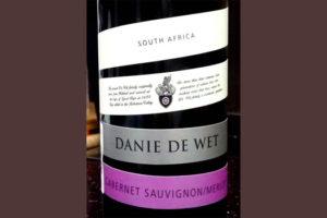 Отзыв о вине Danie de wet Cabernet sauvignon Merlot 2016