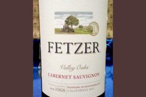 Отзыв о вине Fetzer Valley Oaks cabernet sauvignon 2015