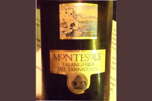 Отзыв о вине Montesole Falanghina del Sannio 2016
