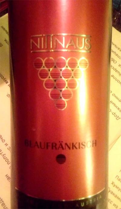 Отзыв о вине Nittnaus Blaufrankisch classik 2015