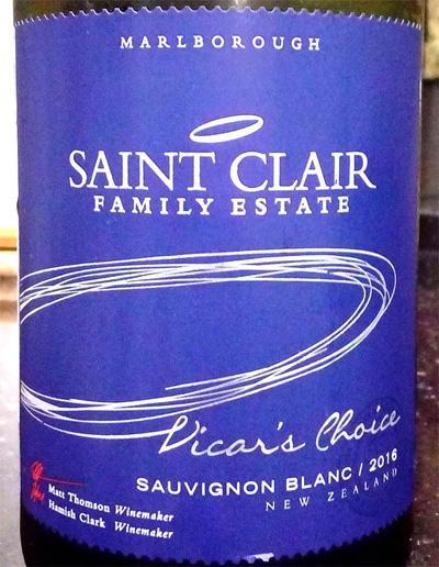 Отзыв о вине Saint Claire Vicar's Choice Sauvignon blanc 2016