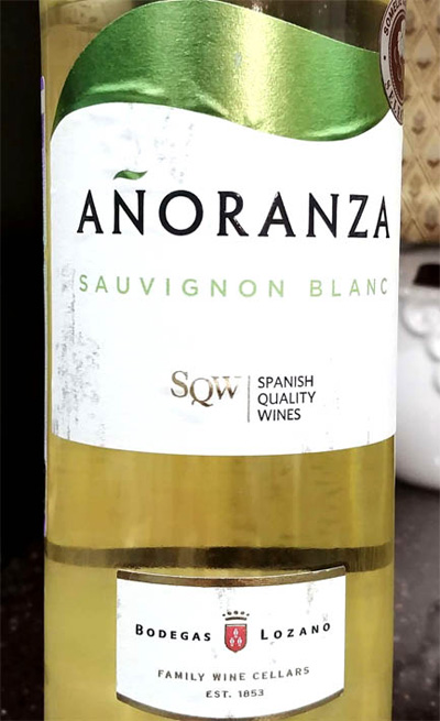 Отзыв о вине Anoranza Sauvignon blanc 2016