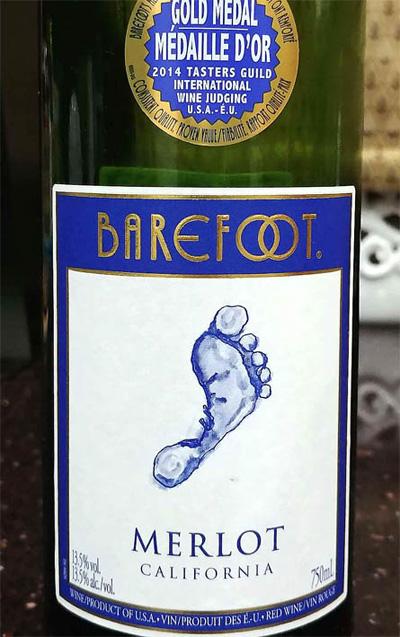 Отзыв о вине Barefoot Merlot California 2016
