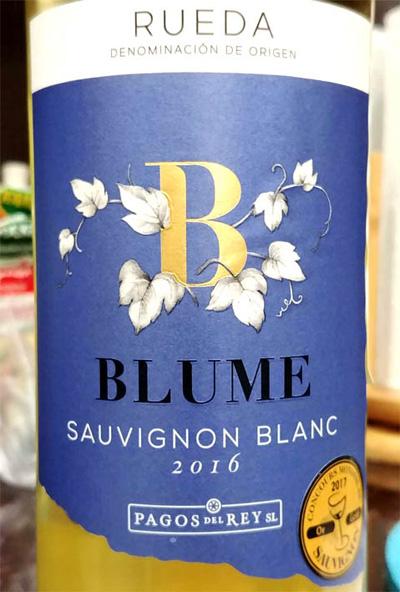 Отзыв о вине Blume Sauvignon Blanc Rueda 2016