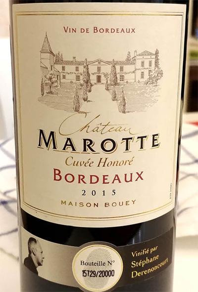 Отзыв о вине Chateau Marotte Maison Bouey 2015