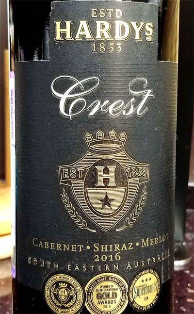 Отзыв о вине Crest cabernet shiraz merlot Hardy's 2016
