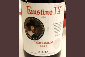 Отзыв о вине Faustino IX Tempranillo 2015
