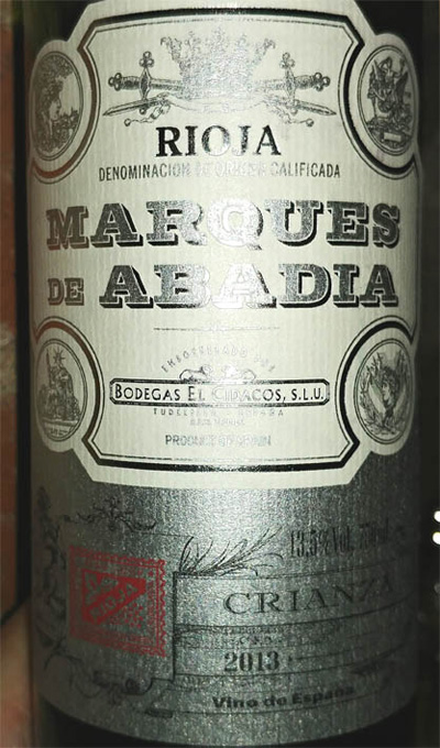 Отзыв о вине Marques de Abadia crianza 2013