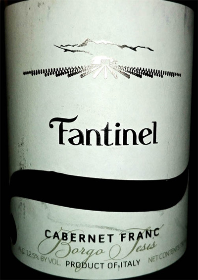 Отзыв о вине Tantinel Caberne Franc Borgo Tesis 2014