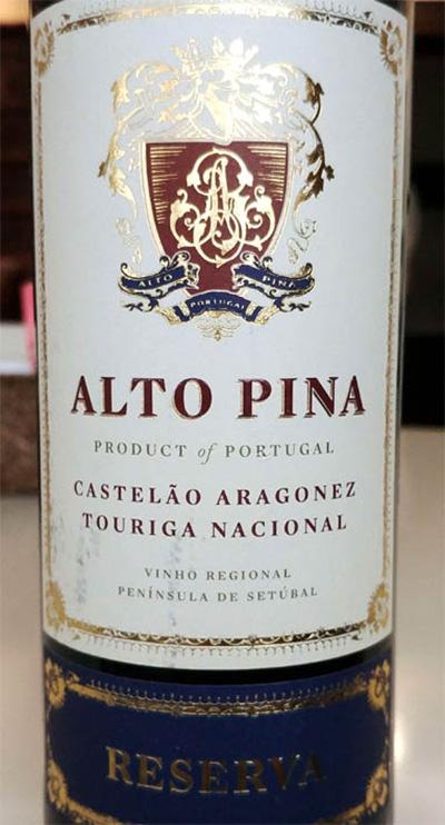 Отзыв о вине Alto Pina reserva 2015