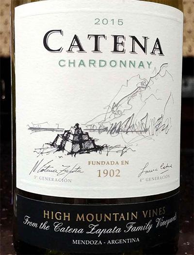 Отзыв о вине Catena chardonnay high mountain wine 2015