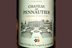 Отзыв о вине Chateau de Pennautier terroirs d'altitude 2013