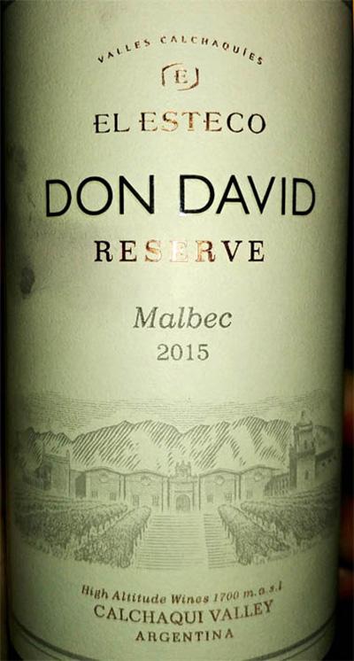 Отзыв о вине Don David malbec reserve 2015