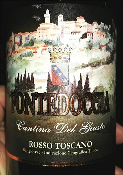 Отзыв о вине Fontedoccia Cantina Del Giusto rosso Toscano 2015