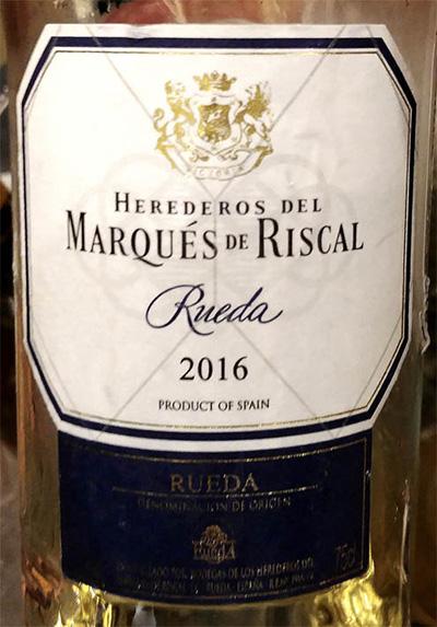 Отзыв о вине Herederos del Marques de Riscal 2016