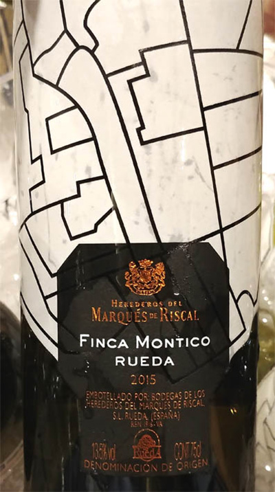 Отзыв о вине Herederos del Marques de Riscal Finca Montico 2015