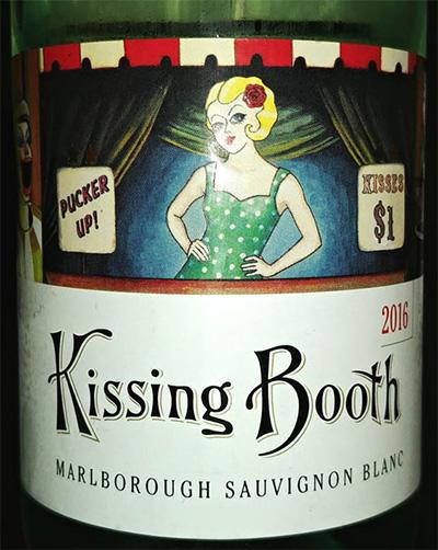 Отзыв о вине Kissing Booth Marlborough sauvignon blanc 2016