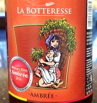 Отзыв о пиве La Botteresse Ambree