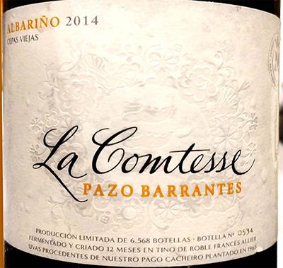 Отзыв о вине La Comtesse Pazo Barrantes albarino 2014