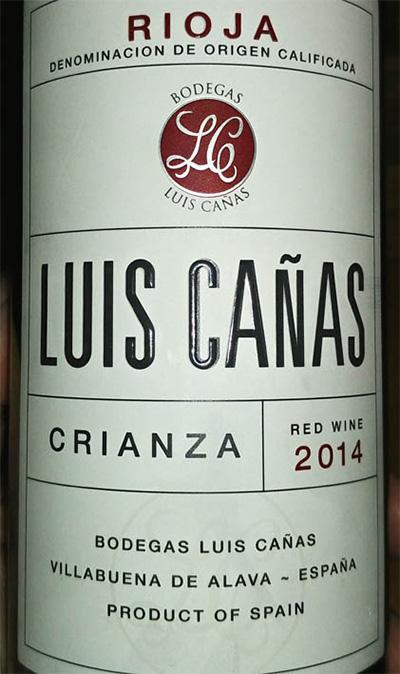 Отзыв о вине Luis Canas crianza 2014
