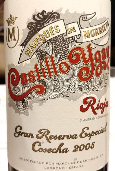 Отзыв о вине Marques de Murrieta Castillo Ygay gran reserva especial 2005