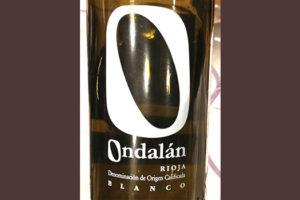 Отзыв о вине Ondalan blanco 2016