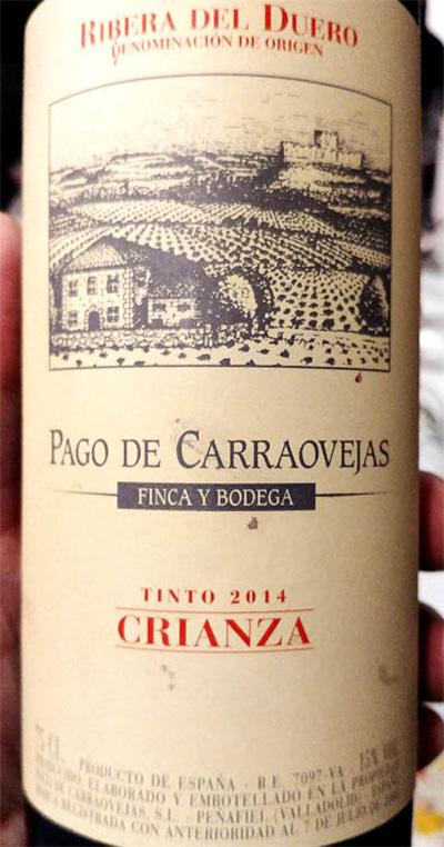 Отзыв о вине Pago de Carraovejas crianza 2014