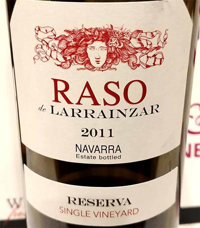 Отзыв о вине Raso de Larrainzar 2011