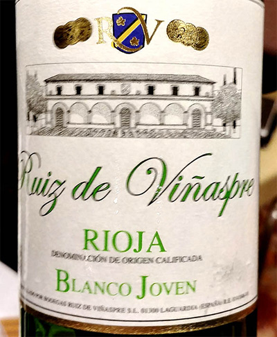 Отзыв о вине Ruiz de Vinaspre blanco joven 2016