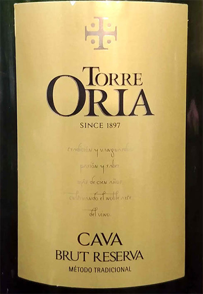 Отзыв об игристом вине Torre Oria cava brut reserva 2016
