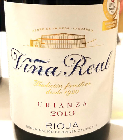 Отзыв о вине Vina Real crianza 2013