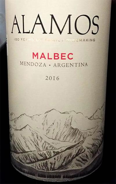Отзыв о вине Alamos Malbec 2016