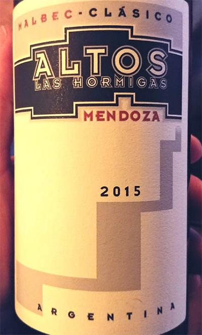 Отзыв о вине Altos las Hormigas malbec clasico 2015