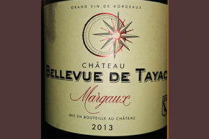 Отзыв о вине Bellevue de Tayac Margaux 2013