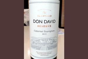Отзыв о вине El Esteco Don David cabernet sauvignon reserve 2015