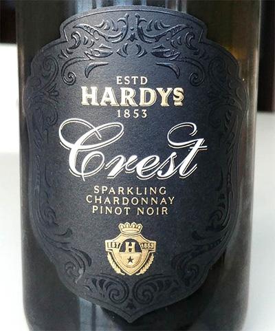 Отзыв об игристом вине Hardy's Crest chardonnay pinot noir sparkling brut 2017