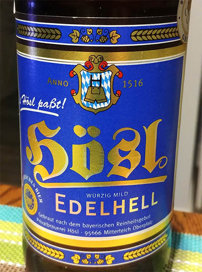 Отзыв о пиве Hosl Edelhell
