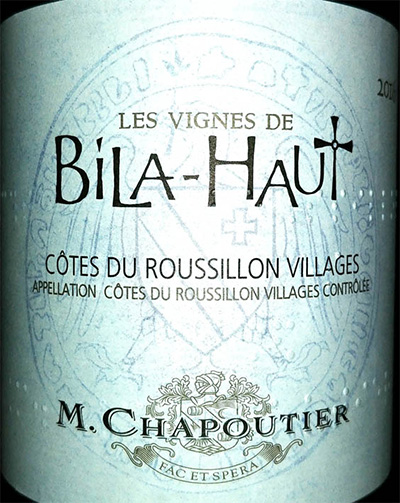 Отзыв о вине Les vignes de Bila-Haut M.Chapoutier 2016