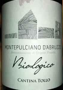Отзыв о вине Montepulciano d'Abruzzo Cantina Tollo biologico 2016
