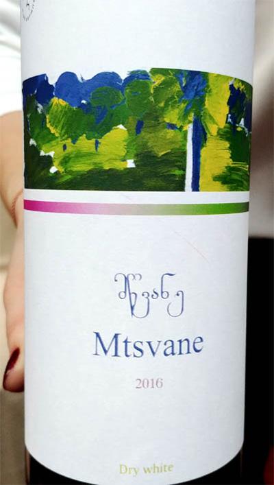 Отзыв о вине Mtsvane Tsereteli 2016