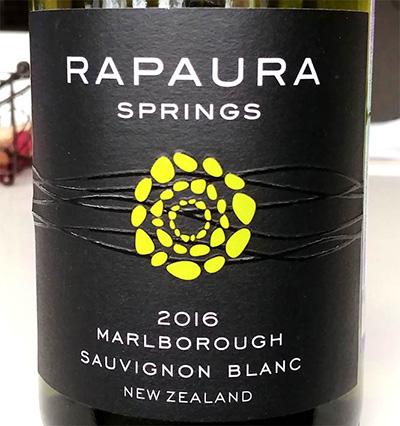 Отзыв о вине Rapaura springs sauvignon blanc 2016
