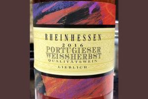 Отзыв о вине Rheinhessen portugieser weissherbst 2016