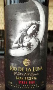 Отзыв о вине Rio de la Luna gran reserva syrah 2010