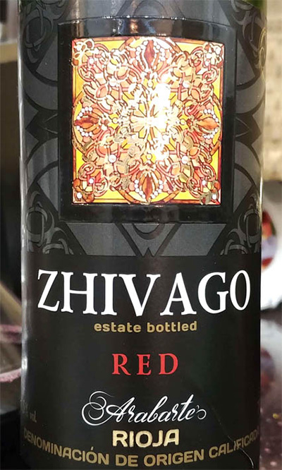 Отзыв о вине Zhivago red Arabarte 2015
