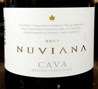 Отзыв об игристом вине Nuviana Cava brut 2017
